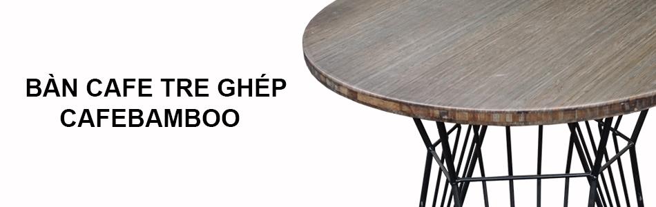 bàn cafe gỗ tre ghép