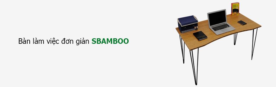 bàn làm việc đơn giản sbamboo