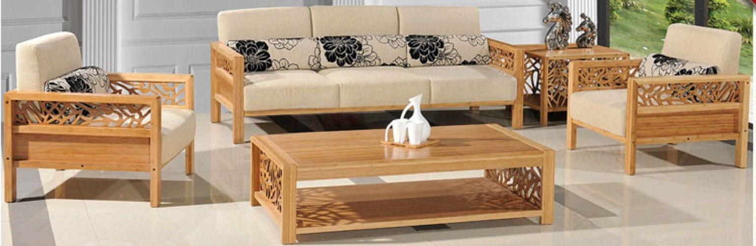 Bộ bàn ghế phòng khách từ tre ghép tấm