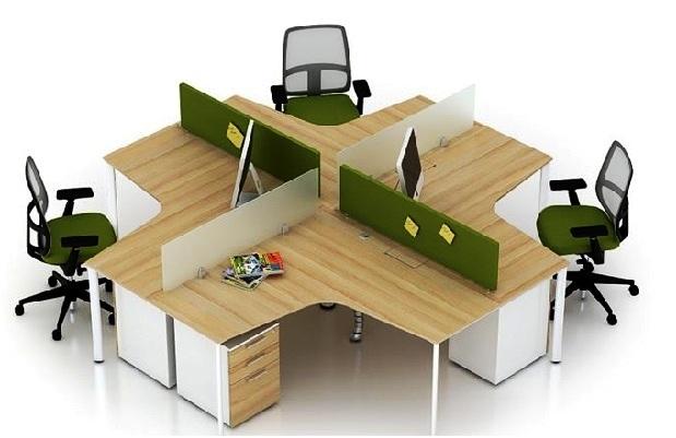 cụm bàn làm việc gỗ tre