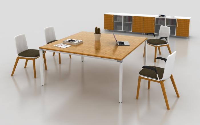 bàn họp mini gỗ tre