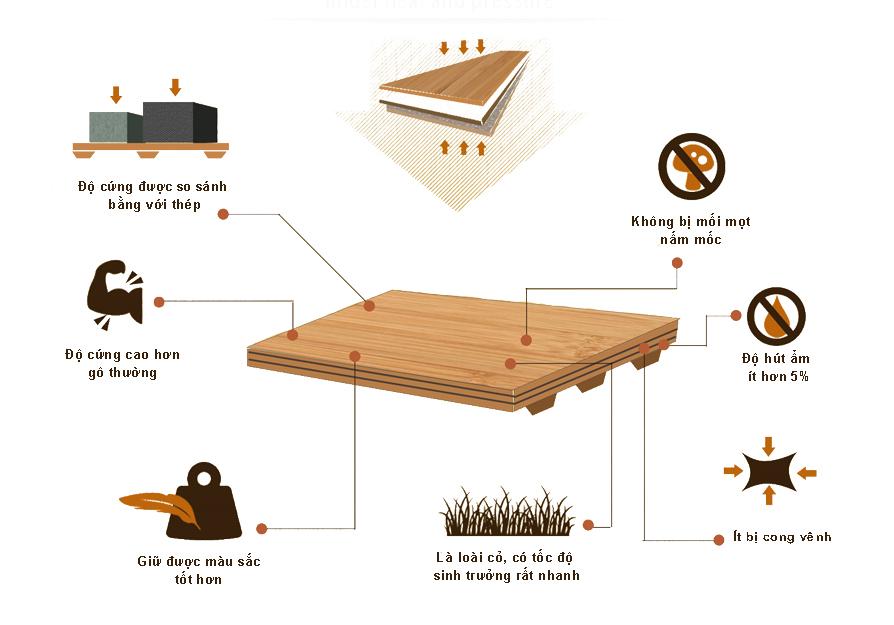 Đặc tính gỗ tre