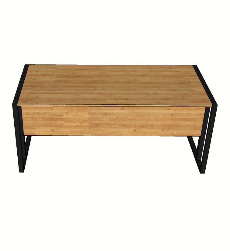 bàn làm việc gỗ tre