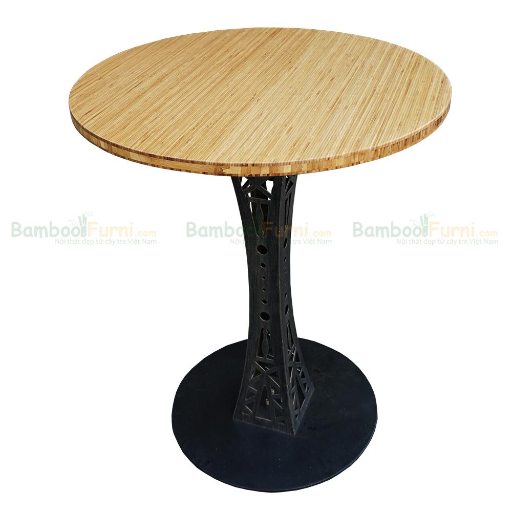 Bàn Cafe Bamboo tròn đường kính 60cm