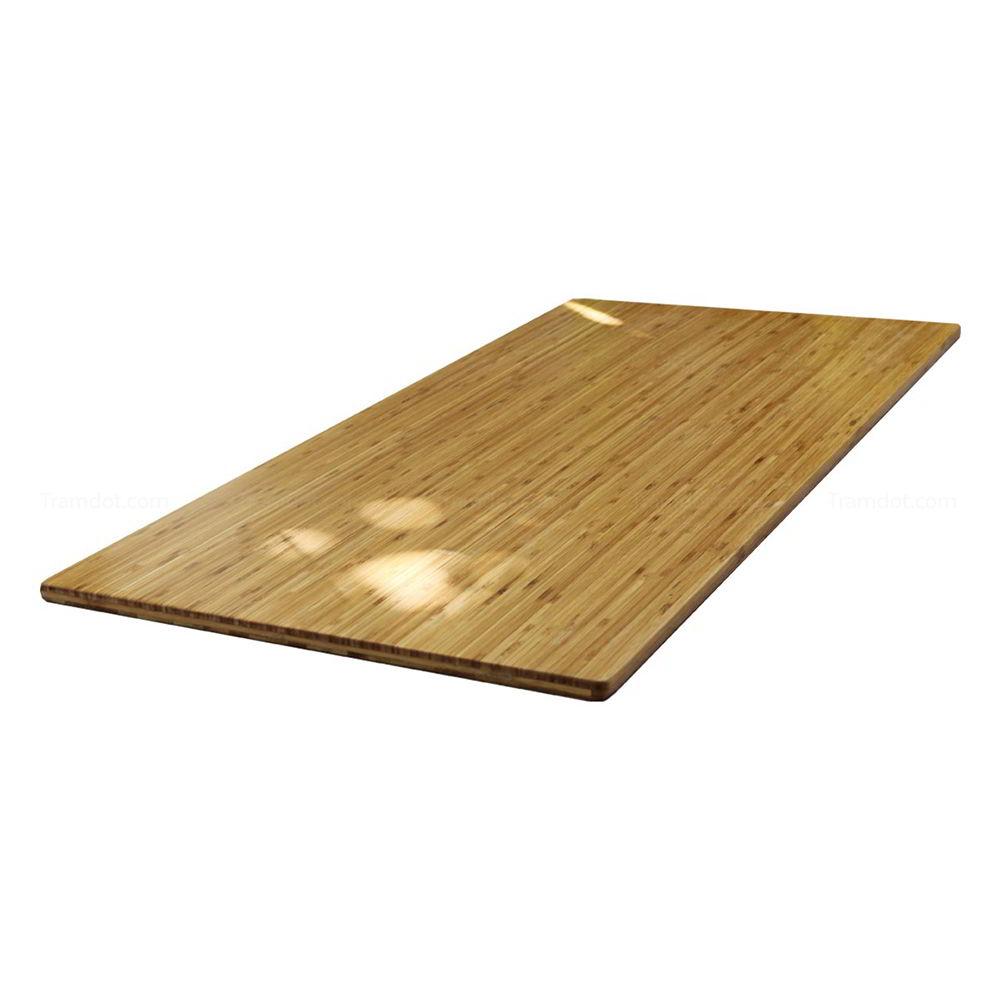 Mặt bàn gỗ tre ghép nguyên tấm 1m4x60 đã PU hoàn thiện