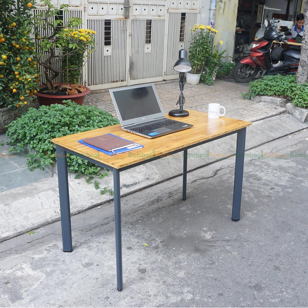 bàn làm việc gỗ tre bamboo