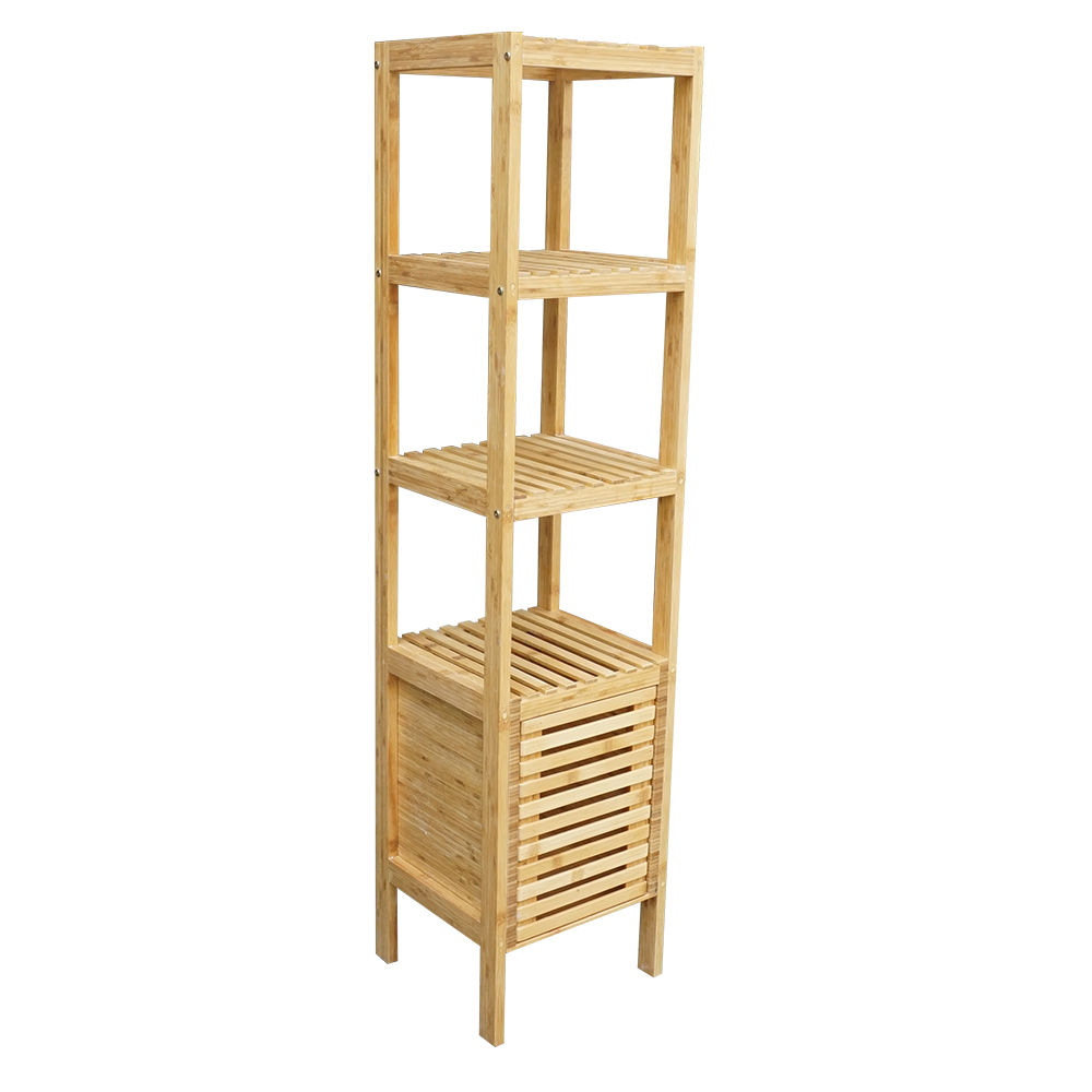 BFTK002- Kệ gỗ tre ép 5 tầng có tủ (34x33x145cm)