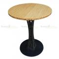 CFB001- Bàn CafeBamboo tròn 60cm chân sắt hoa văn