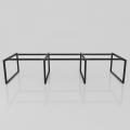 Chân bàn làm việc sắt 25x50 kích thước 120x360 (cm)
