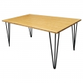TB013 - Bàn Sofa TEABAMBOO gỗ tre chân Hairpin 60x100x45cm