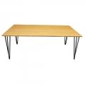 TB014 - Bàn Sofa TEABAMBOO gỗ tre chân Hairpin 60x120x45cm