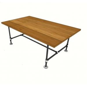 BFBH002 - Bàn gỗ tre chân ống nước