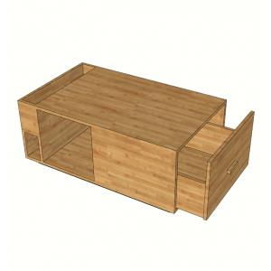 BFST001- Bàn sofa gỗ tre ép