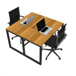 BFSE001 - Cụm bàn làm việc 2 người gỗ tre chân sắt