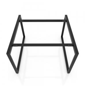 BFCBCN05 - Chân bàn làm việc sắt 25x50 kích thước 140x140 (cm)