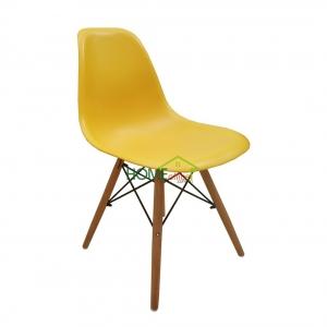 Ghế nhựa cao cấp tựa lưng màu vàng
