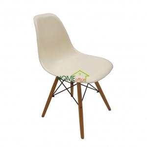 Ghế nhựa cao cấp tựa lưng màu trắng