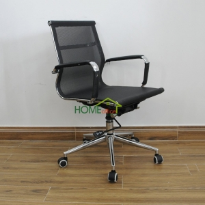 ghế văn phòng lưới chân bánh xe