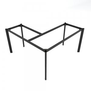 BFCBOV12 - Chân làm việc góc chữ L sắt Oval 140x150cm