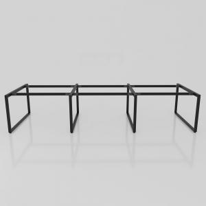 BFCBCN07 - Chân bàn làm việc sắt 25x50 kích thước 120x360 (cm)