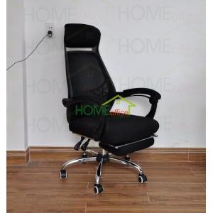 Ghế văn phòng lưới có gác chân màu đen