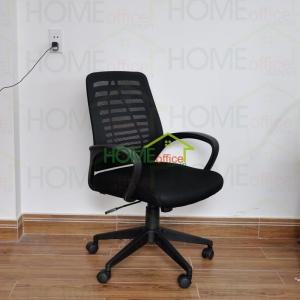 Ghế nhân viên văn phòng lưới chân nhựa màu đen