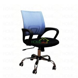 Ghế văn phòng lưới chân xoay màu xanh dương