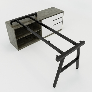 CBAC024 - Chân bàn gác tủ 160x80 hệ AConcept lắp ráp