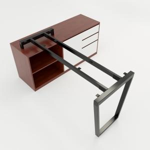 CBTC023 - Chân bàn gác tủ 140x60 Trapez Concept lắp ráp