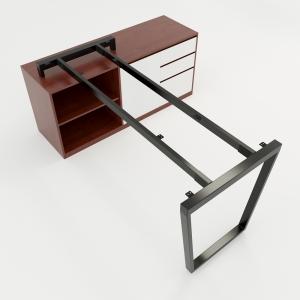 CBTC024 - Chân bàn gác tủ 140x70 Trapez Concept lắp ráp