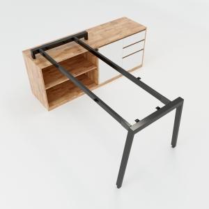 CBAT024 - Chân bàn gác tủ 160x80 hệ Aton Concept lắp ráp