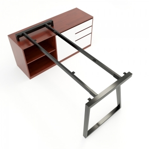CBTH023 - Chân bàn gác tủ 140x70 hệ Trapeze II Concept lắp ráp