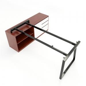 CBTH024 - Chân bàn gác tủ 160x80 hệ Trapeze II Concept lắp ráp