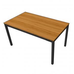 BFBA001 - Bàn ăn gỗ tre 80x140cm chân U lắp ráp
