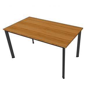 BFBA005 - Bàn ăn gỗ tre 80x140cm chân Oval