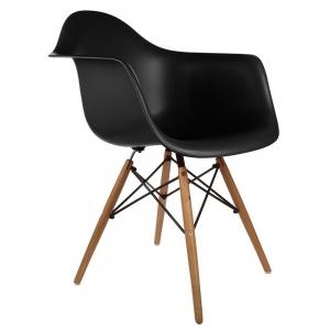 BFG023 - Ghế nhựa Eames có tựa tay chân gỗ sồi
