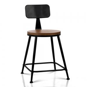 BFG011 - Ghế cafe sắt mặt gỗ có lưng tựa