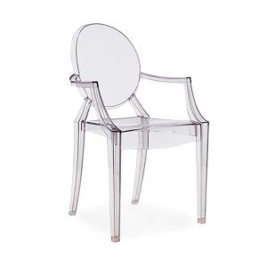 BFG033 - Ghế nhựa trong suốt có tựa tay