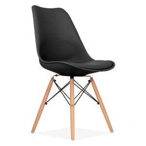 BFG018 - Ghế tựa lưng Eames lót nệm chân gỗ sồi