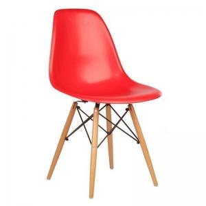BFG012 - Ghế tựa lưng Eames bằng nhựa chân gỗ sồi