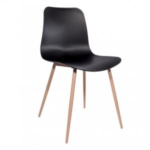 BFG026 - Ghế nhựa lưng tựa chân gỗ