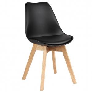 BFG015 - Ghế tựa lưng Eames lót nệm chân gỗ sồi