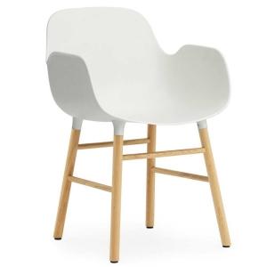 BFG031 - Ghế nhựa có tựa tay chân gỗ sồi