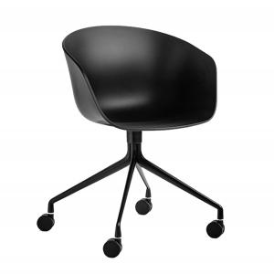 BFG046 - Ghế tựa lưng HAY bằng nhựa chân sắt có bánh xe