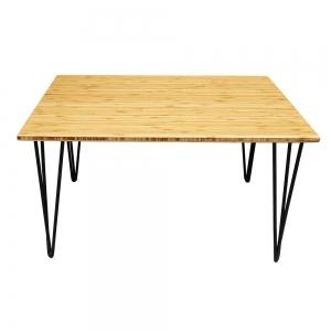 TB012- Bàn trà TEABamboo gỗ tre chân Hairpin 50x80x45cm