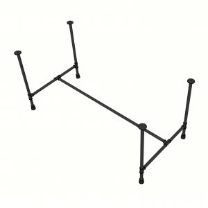 CBPP007 - Chân bàn ống nước sắt tiện ren 80x160x73cm