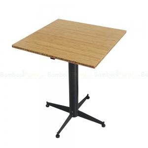 CFB015 - Bàn CafeBamboo vuông 60cm chân sắt