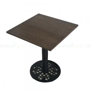 CFB018- Bàn CafeBamboo 60cm chân sắt hoa văn