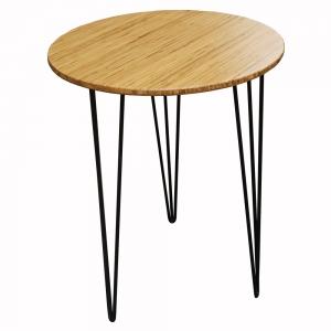 CFB013- Bàn CafeBamboo tròn 60cm chân Hairpin