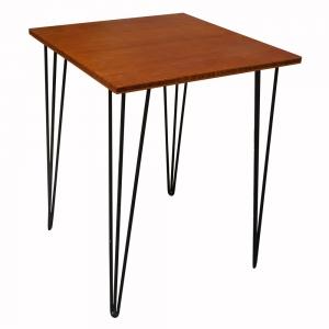 CFB0140- Bàn CafeBamboo vuông 60cm chân Hairpin